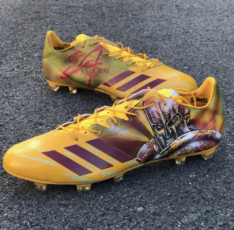 "7da1201d09 Josh Norman s ""300"" cleats ( 6). Master Tesfatsion Washington Post"
