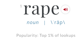 "Image of the word ""rape."""