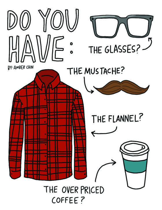 Various hipster items