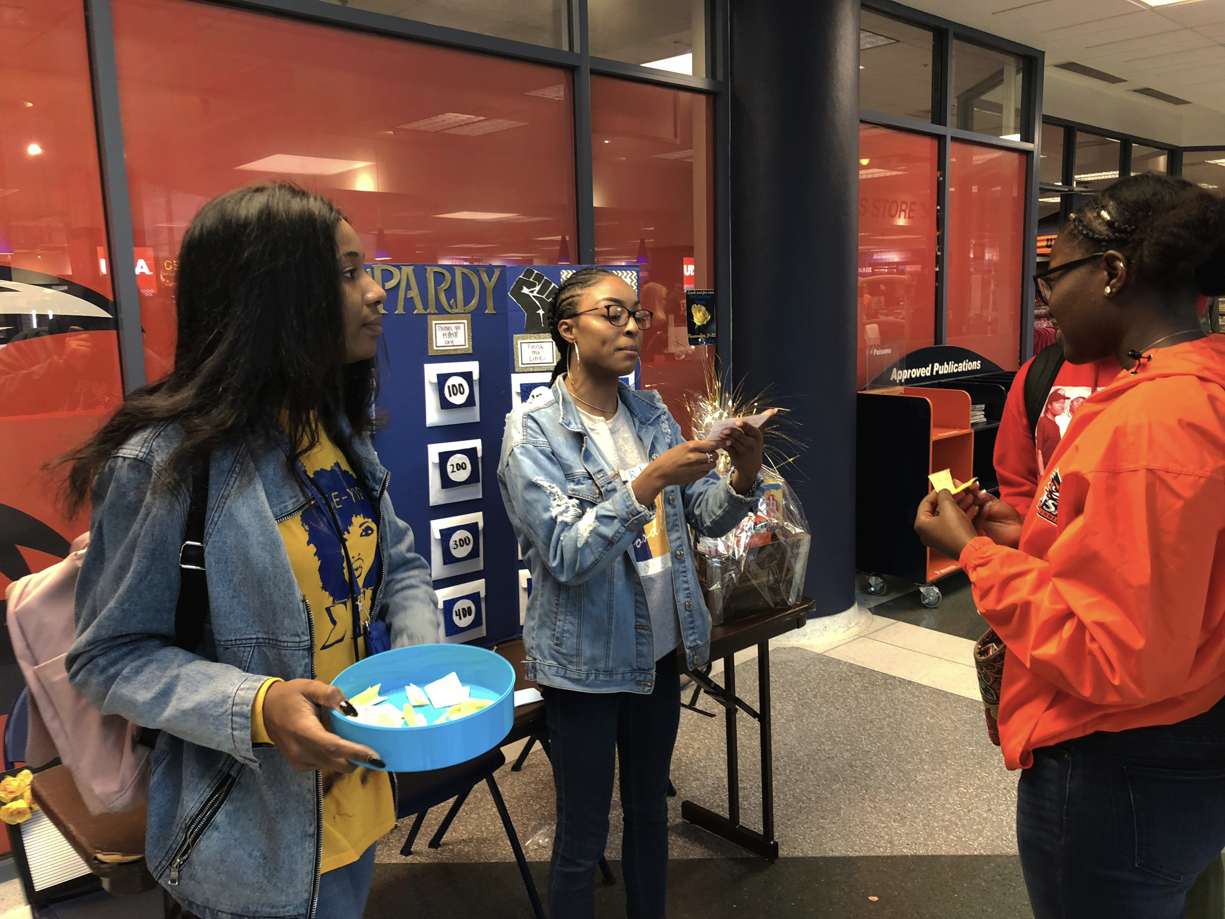 "Sigma Gamma Rho hosts ""Black Jeapordy."""