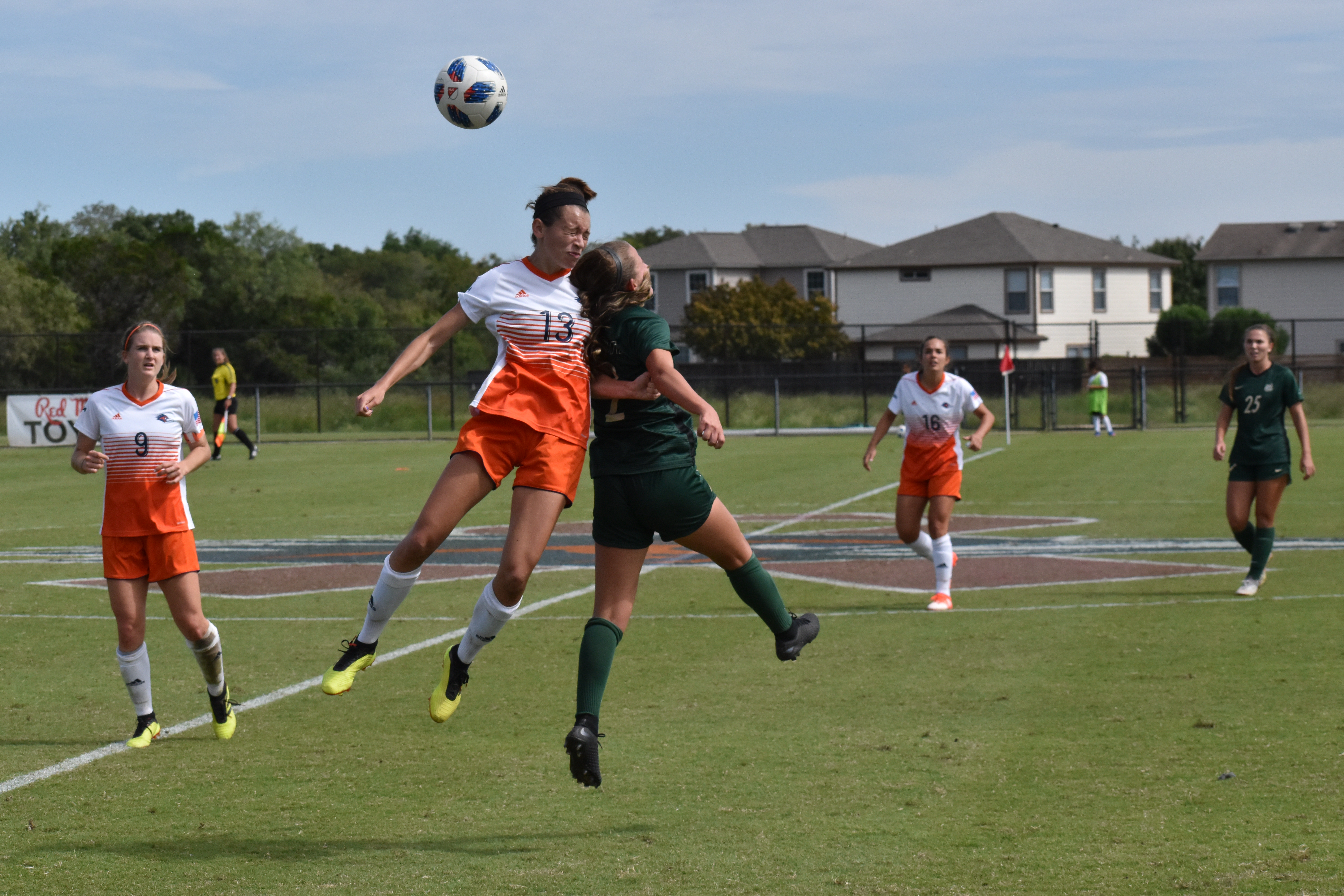Marianne Hernandez going head first for a ball.