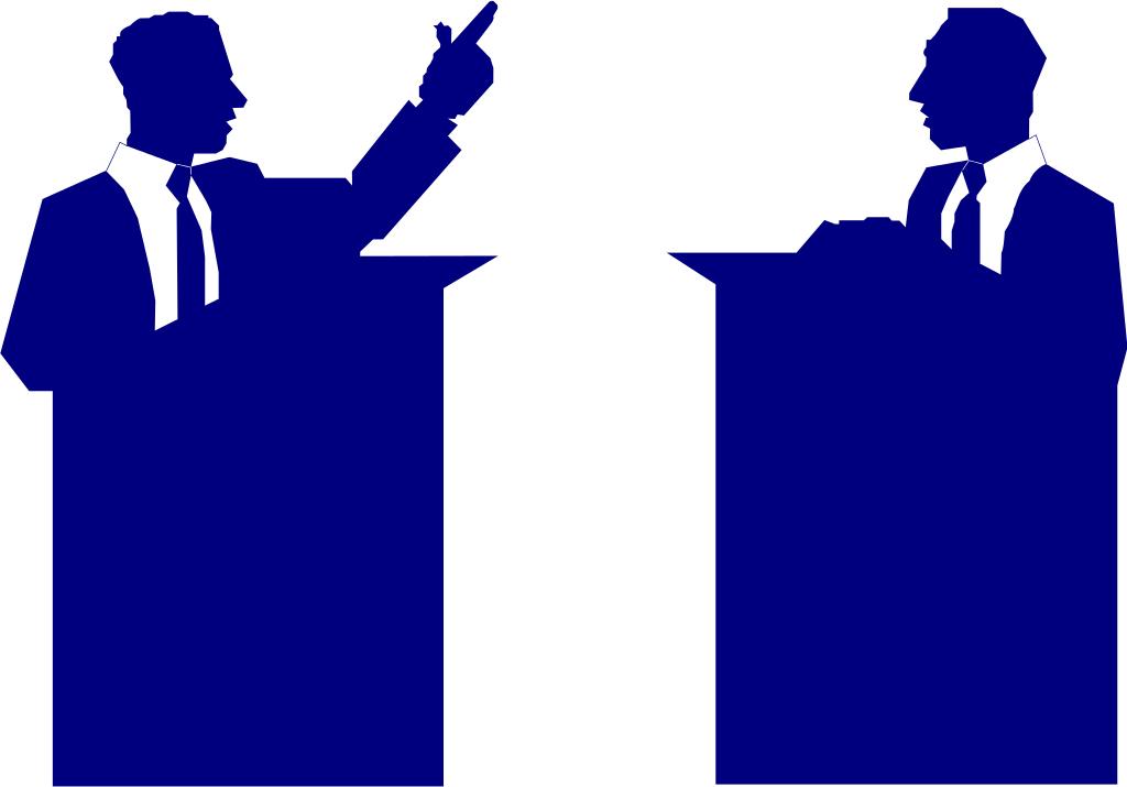 Politicians debating