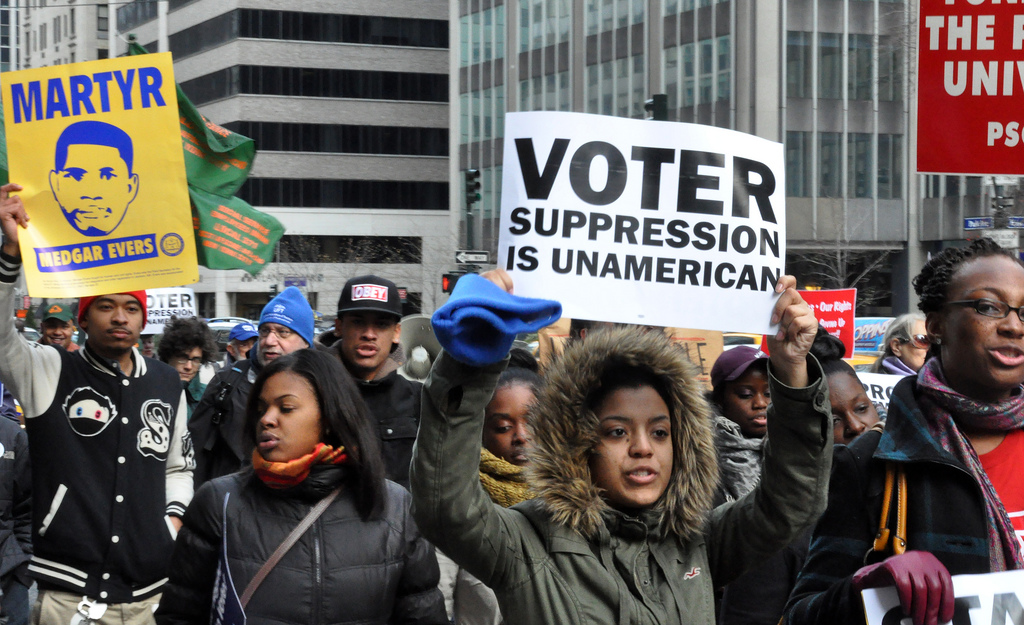 A march against voter suppression.
