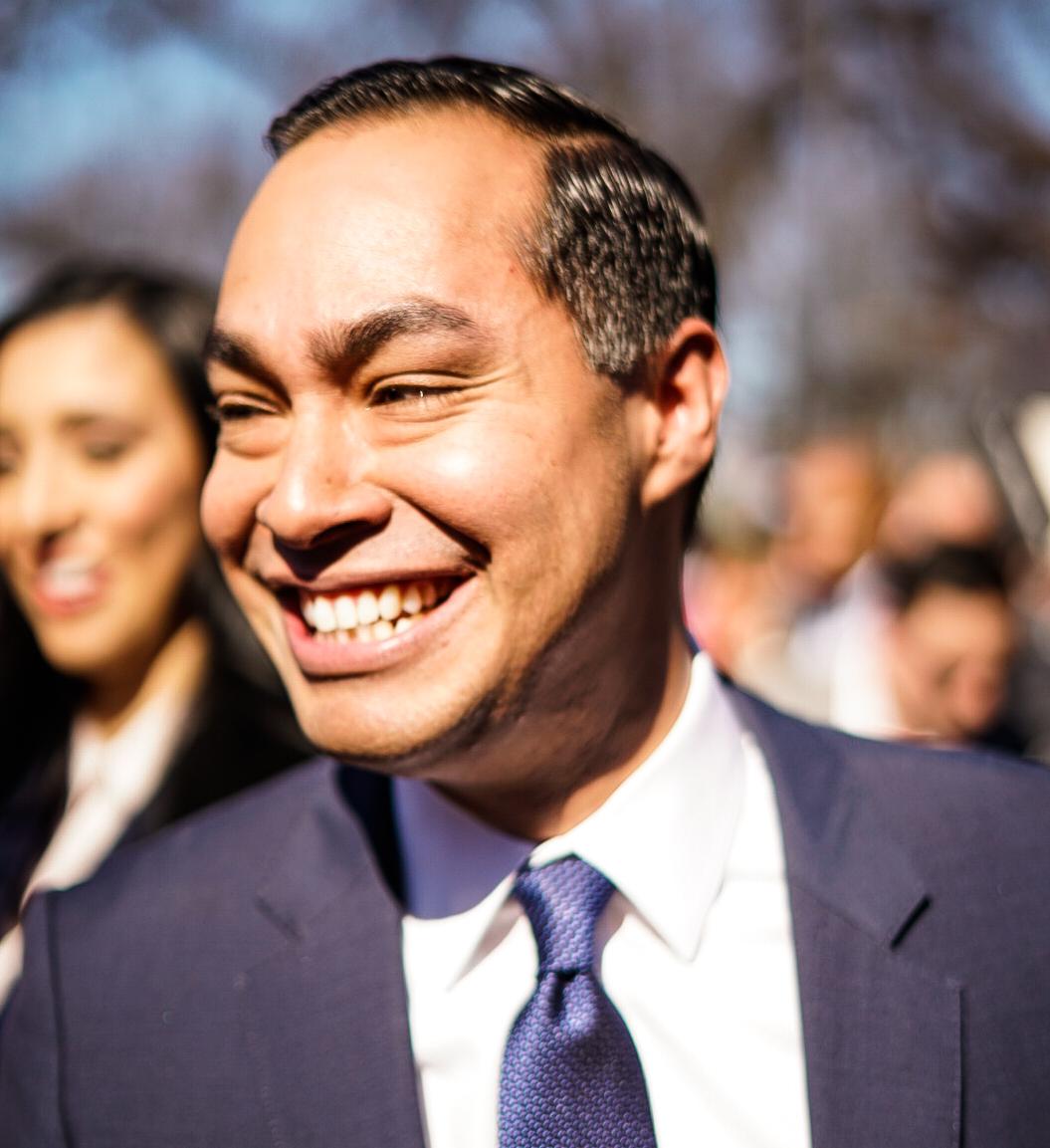 Julian Castro announces run for presidency at Guadalupe Plaza.
