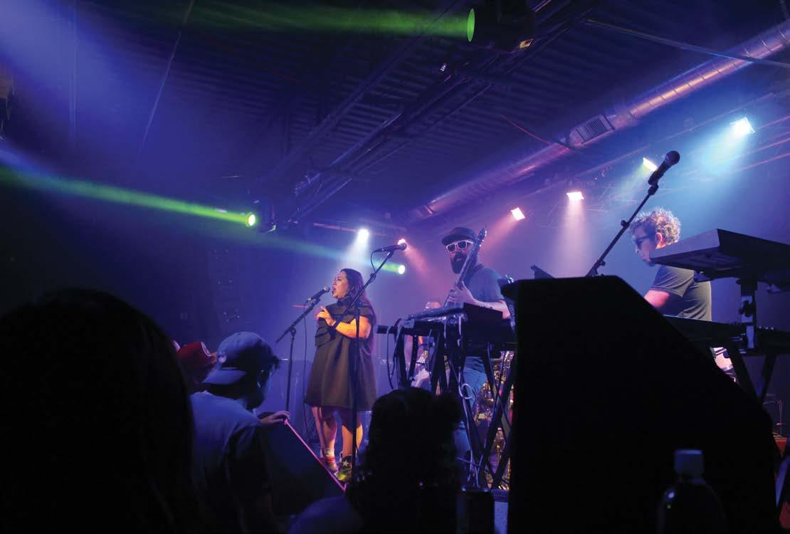 Singers ignite the crowd. Photo by Sofia Garcia